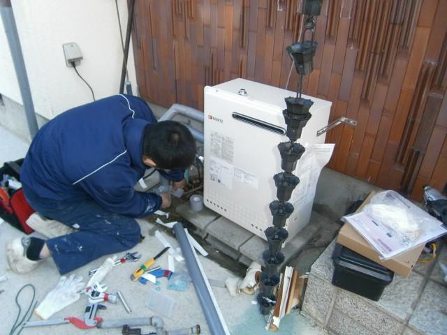 愛知県小牧市 給湯器取替工事