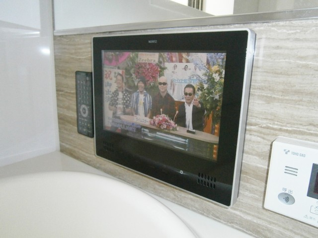 知多市 浴室テレビ取替工事