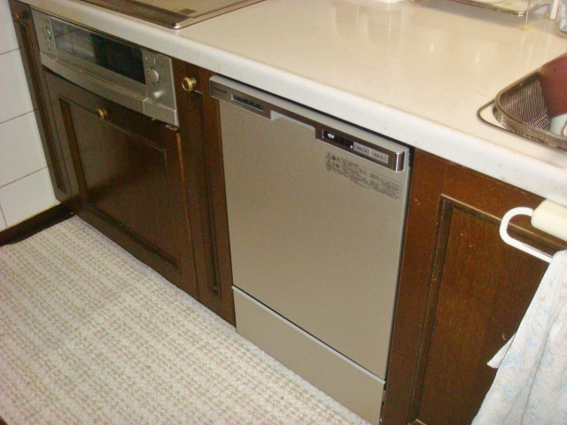 名古屋市名東区 ビルトイン食洗機取替え工事