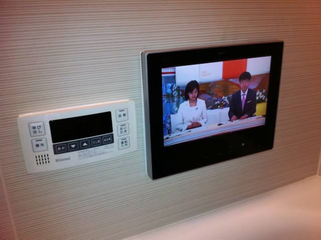 半田市 浴室テレビ取付工事