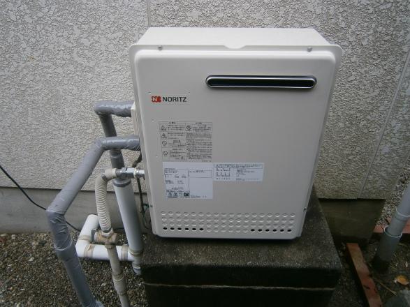 桑名市 ガス給湯器取替工事