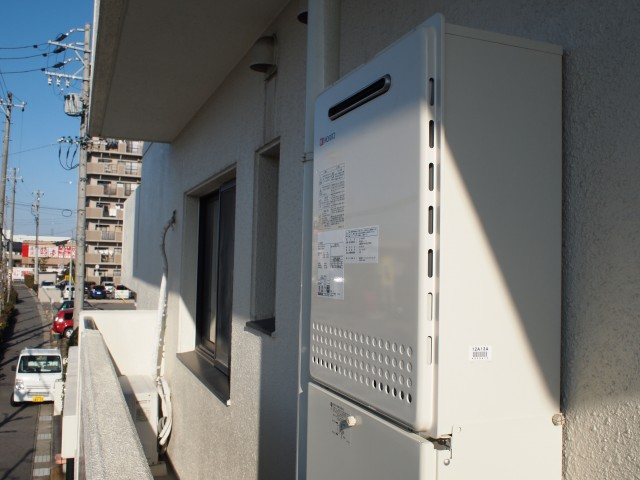 安城市 ガス給湯器 交換工事