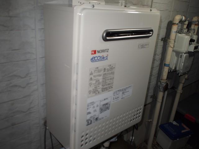 名古屋市北区 ガス給湯器 交換工事
