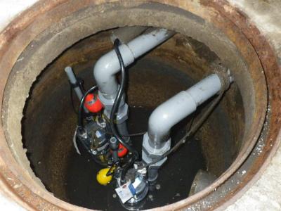 名古屋市名東区 排水ポンプ取替工事