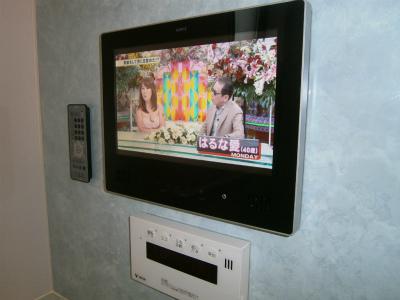 北名古屋市 浴室テレビ 新規取付工事