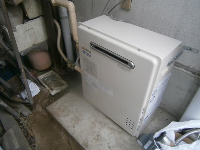 小牧市 ガス給湯器取替工事