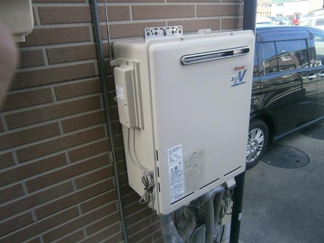 無線リモコン式ガス給湯器取替