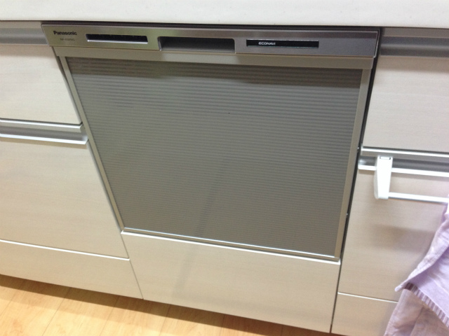 パナソニック NP-45MS6S ビルトイン食洗機新規取付工事 一宮市