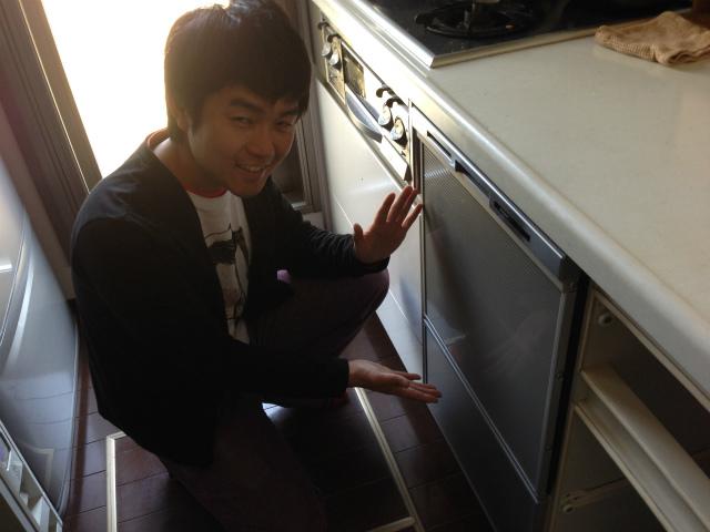 パナソニック ビルトイン食洗機 コンパクトタイプ NP-45MS6S+キャビネット 新規取付工事(名古屋市北区)