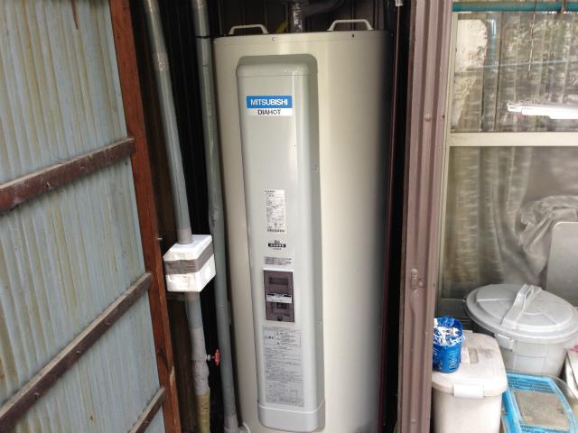 三菱 SRG-375C 電気温水器取替工事(名古屋市北区)