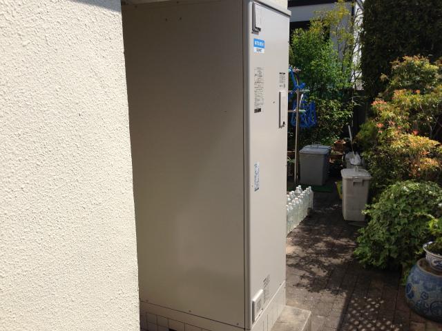 角型給湯専用電気温水器取替工事 (名古屋市名東区)