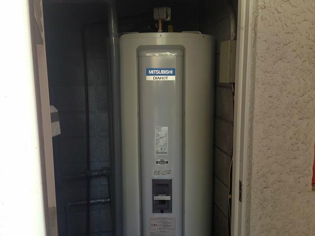 三菱 SRG-375C マンションPS設置 電気温水器取替工事(名古屋市千種区)
