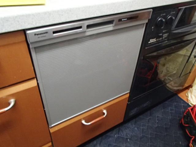 パナソニックビルトイン食洗機取替工事(名古屋市中区)