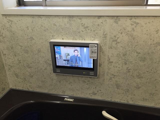 浴室テレビ取替工事(岡崎市)施工事例