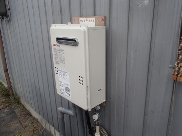 岡崎市赤渋町石油給湯器からノーリツ(NORITZ)ガス給湯器(GQ-2039WS)へ取替工事
