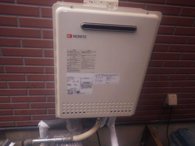 鈴鹿市野町中 GT-2450SAWX-2給湯器据置から壁掛け工事